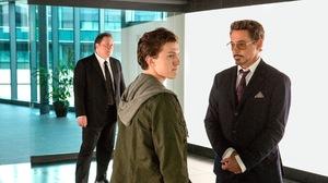 Peter Parker Robert Downey Jr Tom Holland Tony Stark 2700x1523 Wallpaper