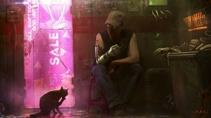 Artwork Fantasy Art Science Fiction Cats 2048x1152 Wallpaper