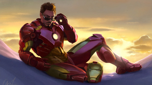 Iron Man Iron Man 2 Tony Stark Glasses Fan Art Artwork Digital Painting Digital Art Morning 3840x2433 Wallpaper