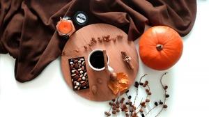 Candle Cinnamon Coffee Cup Nut Pumpkin 4032x3024 Wallpaper