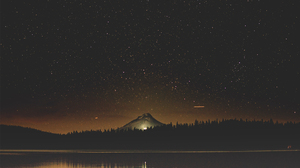 Landscape Forest Starry Night USA Water Reflection 3000x2001 Wallpaper
