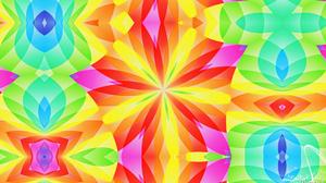 Artistic Digital Art Colors Pattern Colorful Yellow Green Blue 1920x1080 Wallpaper