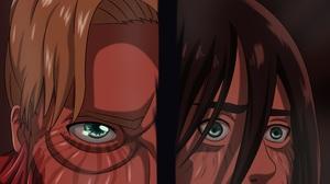 Attack On Titan Eren Yeager Zeke Yeager 2960x2688 Wallpaper