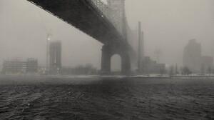 Bridge Mist Queensboro Bridge New York City Monochrome 2048x1367 Wallpaper
