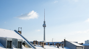 City Berlin Snow Clear Sky Monument Tower Rooftops Radio Tower 3840x2160 Wallpaper