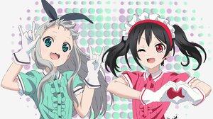 Hideri Kanzaki Nico Yazawa Love Live Blend S 3508x2146 wallpaper