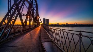 Bridge Sunset Urban Photography City Long Bien Bridge 2500x1668 wallpaper
