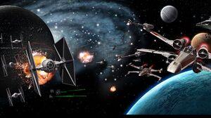 Death Star Star Destroyer Star Wars Tie Fighter X Wing 3200x1200 Wallpaper