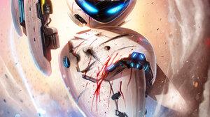 Artwork Science Fiction WALL E Robot EVE Movies Dan Luvisi Blue Eyes Machine 950x1402 wallpaper