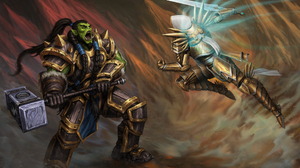 Angel Warrior Heroes Of The Storm Orc Thrall World Of Warcraft Tyrael Diablo Iii Warrior 1939x1284 Wallpaper
