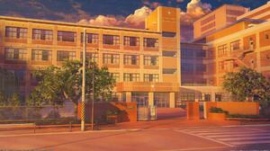 Artwork Digital Art Building City 1920x1080 Wallpaper
