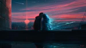 Couple Sunset 1920x1080 Wallpaper