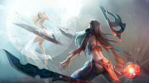 Irelia League Of Legends Janna League Of Legends League Of Legends 1920x1080 Wallpaper
