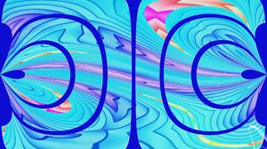 Abstract Artistic Blue Colors Digital Art Shapes 1920x1200 Wallpaper