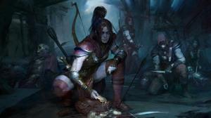 Diablo 4 Rogue Character Video Games PC Gaming Video Game Girls Women Fantasy Art Fantasy Girl Bow A 2048x1152 Wallpaper