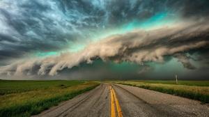 Road Field Sky Cloud Horizon 1920x1280 Wallpaper