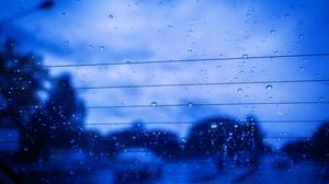 Rain Sad Blue Car Storm Evening Glass Blurred Traffic Road Heavy Cold Sky Window 5184x3456 Wallpaper