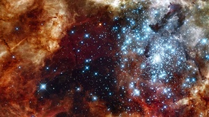 Stars Space 2330x1184 wallpaper