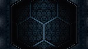 Portrait Display Vertical Texture Digital Art Artwork Hexagon 1407x3045 Wallpaper