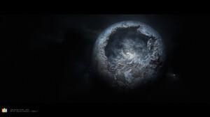 Space Space Art Digital Art Planet Hollow Mujia Liao 3840x2160 Wallpaper