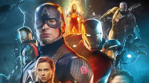 Avengers Endgame Black Widow Captain America Captain Marvel Iron Man Thor War Machine 3394x1909 Wallpaper