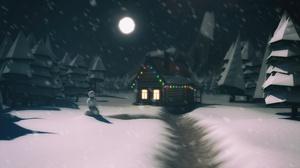 Nature Snow Cabin 3840x2160 Wallpaper