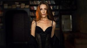 Alexey Kishechkin Women Ksenia Kokoreva Brunette Looking At Viewer Long Hair 2560x1440 Wallpaper