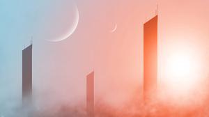 Skyscraper Planet 3840x2160 wallpaper