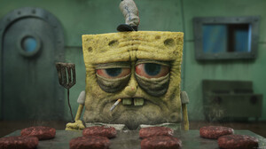 Yan Blanco Spongebob Cigarettes Fast Food Hamburgers Stove Digital Art 1920x1080 Wallpaper