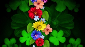 Artistic Clover Colorful Colors Flower Green 1920x1200 Wallpaper