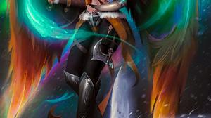 Nixri Drawing Women Helmet Warrior Valkyries Wings Axes Shield Weapon Owl Birds Fantasy Art Flying C 1270x1800 Wallpaper