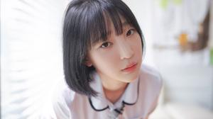 Korean Women Dark Hair White Bed Sheets Asian Indoors Women 5000x3333 Wallpaper