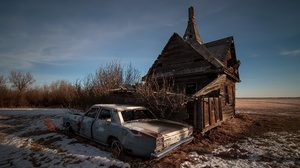 Car Ford Ruin Wreck 2048x1360 Wallpaper
