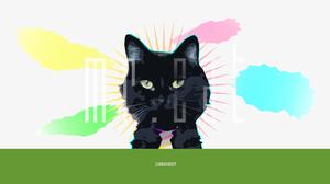 Animal Artistic Cat Cloud Digital Art Tie Vector 3000x1688 Wallpaper