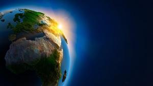 World Earth Sky Sunset Space 3840x2160 Wallpaper