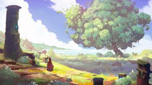 George Marnero Nature Landscape Grass Trees Fantasiam Fantasy Art 3352x2160 Wallpaper