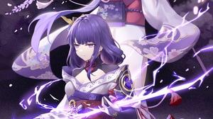 Anime Anime Girls Digital Art Artwork 2D Portrait Display Vertical Genshin Impact Raiden Shogun Gens 5000x7500 Wallpaper
