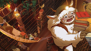 Oregon Portland Travel Oregon Studio Ghibli Hayao Miyazaki Yeti Sasquatch Squatch Digital Painting L 3038x1093 Wallpaper
