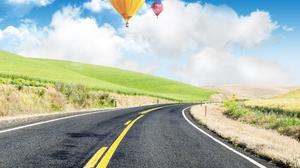 Road Hot Air Balloons 4000x3000 Wallpaper