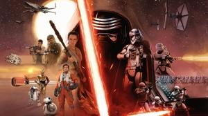 Star Wars Kylo Ren Sith Rey Finn Star Wars Chewbacca Poe Dameron R2 D2 C 3PO BB 8 Captain Phasma Fir 2560x1440 wallpaper