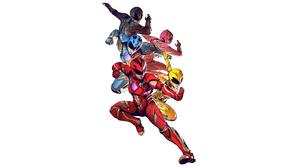 Black Ranger Blue Ranger Pink Ranger Power Rangers Red Ranger Yellow Ranger 5120x2880 wallpaper