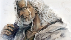 Alcohol Glasses Man Silvers Rayleigh White Hair 3840x2160 Wallpaper