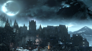 City Dark Souls Iii Night Sky 4650x1350 Wallpaper