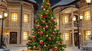Christmas Christmas Tree 3000x2501 Wallpaper
