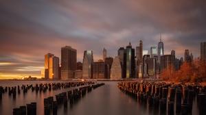 Building City Manhattan New York Skyscraper Usa 2048x1100 Wallpaper