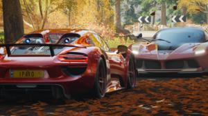 Forza Forza Horizon 4 Racing Car Ultrawide Video Games Porsche 918 Spyder Ferrari 599XX 3440x1440 Wallpaper