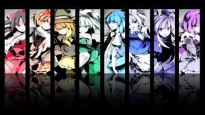 Anime Touhou Cirno Kirisame Marisa Toramaru Shou Reisen Udongein Inaba Komeiji Satori Konpaku Youmu  2048x1280 Wallpaper