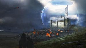 Battle Castle Force Field Knight Town Trebuchet 4500x2138 Wallpaper