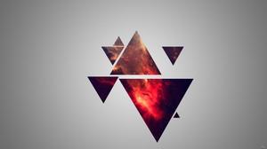 Minimalism Geometry Triangle Nebula Digital Art Simple Background 2560x1440 Wallpaper