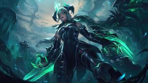 Shyvana Shyvana League Of Legends League Of Legends Riot Games Dragon 4K 7680x4320 Wallpaper